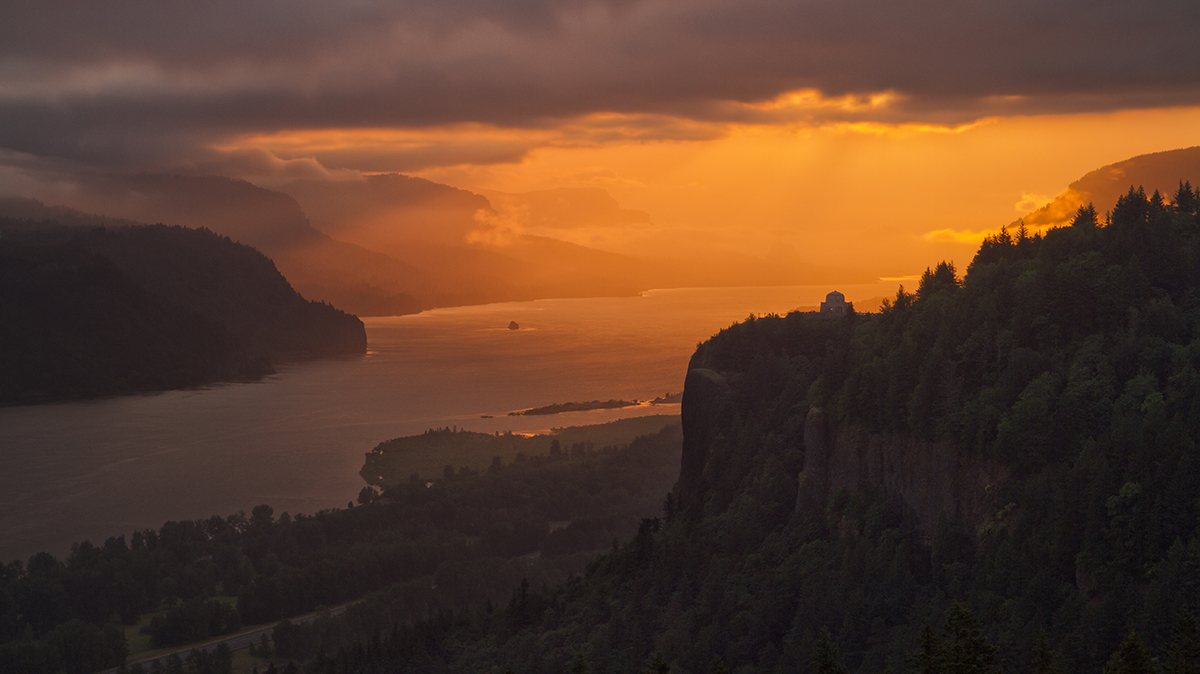 Flight Training in Columbia River Gorge at HAA