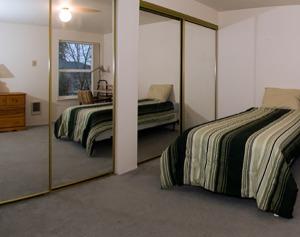 master bedroom in student housing