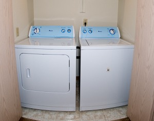 Washer and dryer in student housing