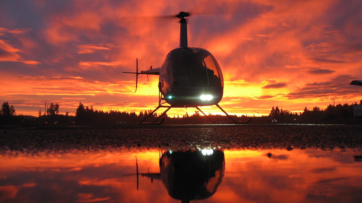 Helicopter instrument training course