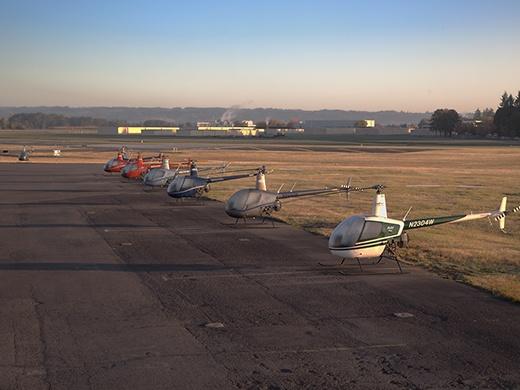 Hillsboro Aero Academy Helicopter Flight Line
