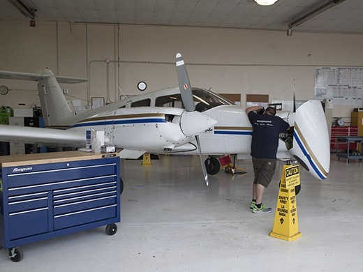 HAA Hillsboro campus airplane maintenance hangar