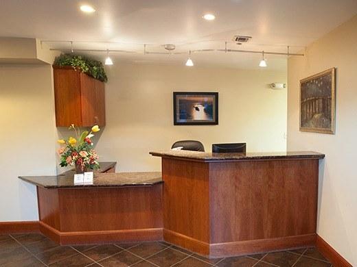 HAA Hillsboro campus reception area