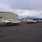 HAA Prineville campus airplane ramp