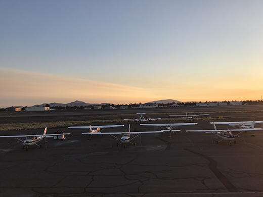 Redmond airplane flight line